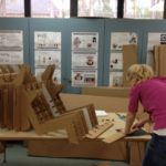 interiod design student constructing chair