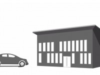 graphic of gar and building