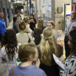 students on tour of mag lab